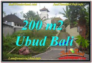 DIJUAL TANAH di UBUD BALI 200 m2 di Sentral / Ubud Center