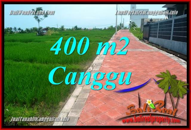 JUAL TANAH di CANGGU 400 m2 di Canggu Pererenan