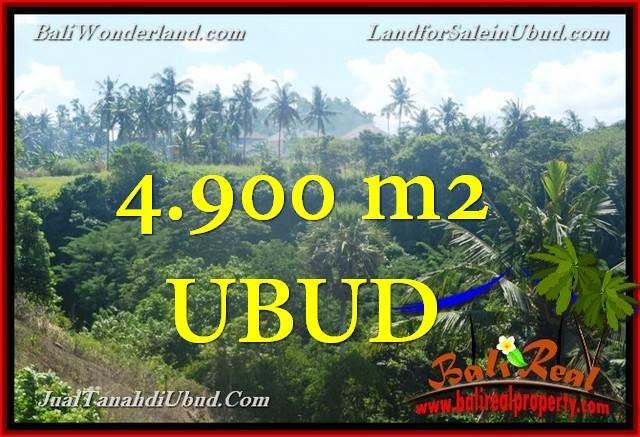 TANAH DIJUAL di UBUD 4,900 m2  View Tebing dan sungai