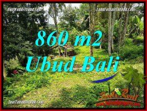 JUAL Tanah di Ubud 860 m2 View sawah dan kebun
