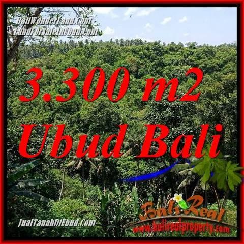 Tanah di Ubud Bali Dijual 33 Are View sungai, lingkungan Villa, Restoran dan Hotel