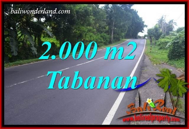 Tanah di Tabanan Bali Dijual 20 Are View Sawah