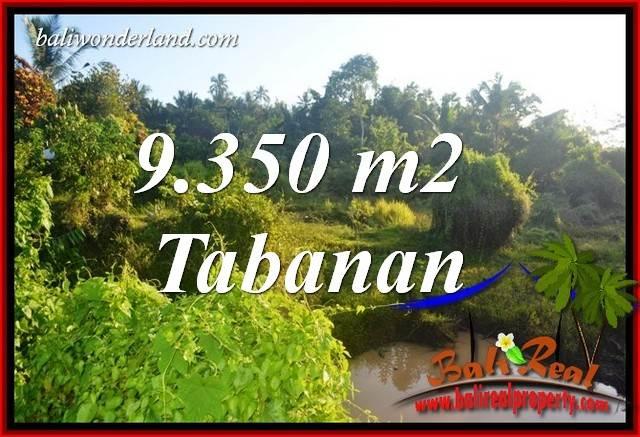 JUAL Murah Tanah di Tabanan Bali 9,350 m2  View Kebun dan Sawah