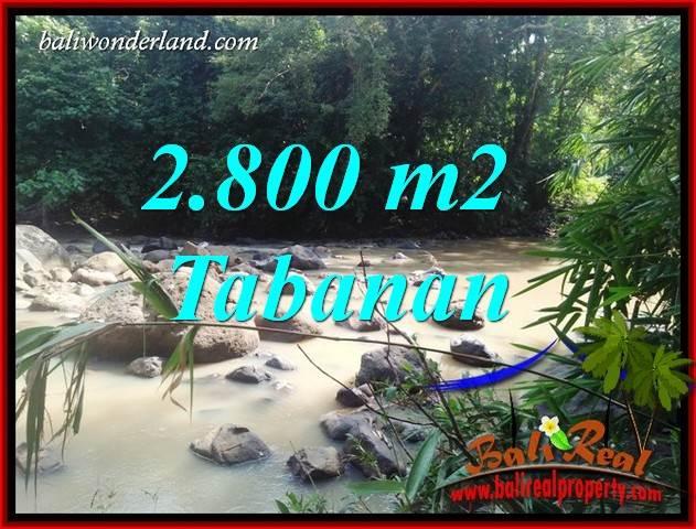 Tanah Murah di Tabanan Bali Dijual 2,800 m2  View Kebun dan Sungai