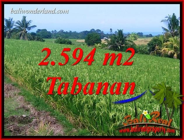 Tanah Murah Dijual di Tabanan Bali 2,594 m2 di Tabanan Selemadeg