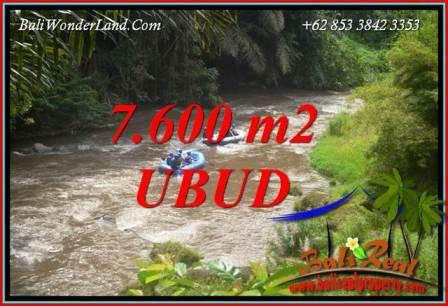 JUAL Tanah di Ubud Bali 7,600 m2 View sawah dan sungai Ayung