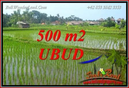 Tanah Murah  di Ubud Bali Dijual 5 Are View sawah lingk. Villa