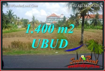 JUAL Tanah di Ubud Bali 1,400 m2 di Sentral Ubud