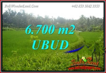 Tanah Murah jual di Ubud Bali 6,700 m2  View sawah lingk. villa