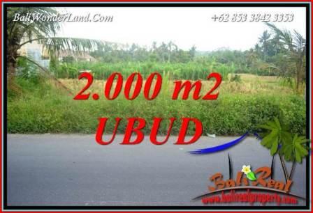 Tanah di Ubud Bali Dijual Murah 2,000 m2 di Ubud Kemenuh