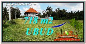 JUAL MURAH TANAH di UBUD BALI 718 m2 View Sawah link Villa