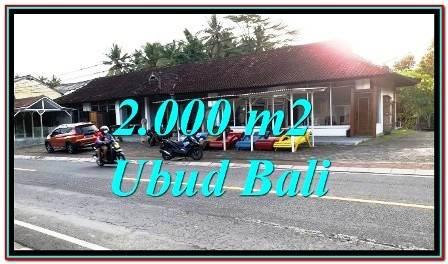 Tanah Murah pinggir jalan utk Komersil di Sentral Ubud Bali TJUB777