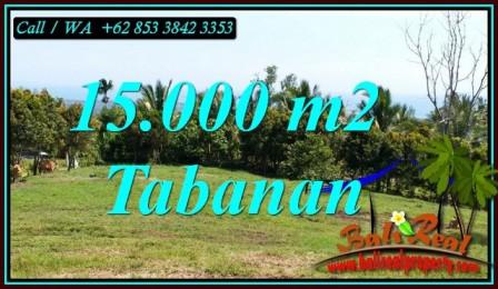TANAH MURAH  di TABANAN BALI DIJUAL 15,000 m2 View SAWAH, GUNUNG DAN LAUT